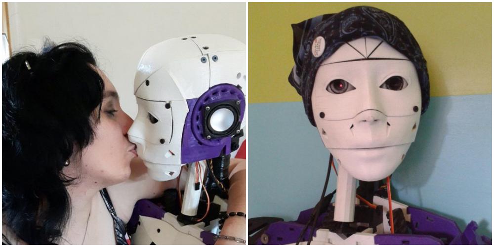 ロボットと結婚する女性