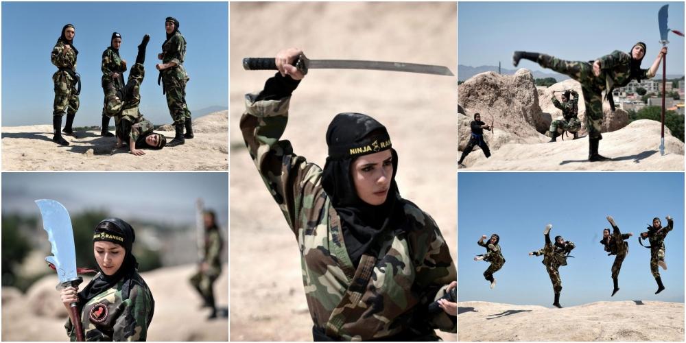 砂漠で戦うイランのくノ一