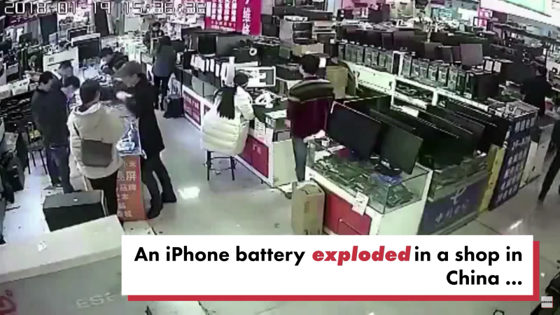 iPhoneかじって大爆発事件中国
