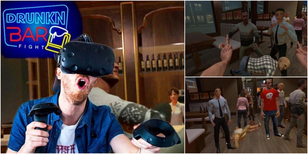 VRゲームで泥酔大喧嘩