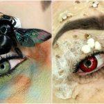 虫の死骸メイクでグロビューティー