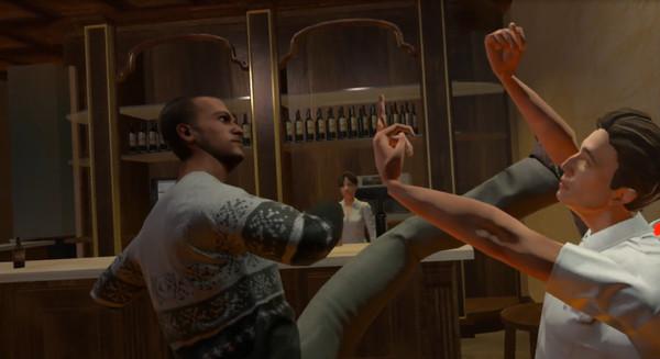 VRゲーム仮想現実で酔っ払いが大喧嘩