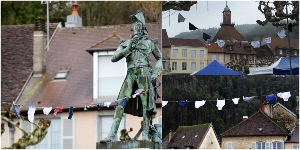 フランスの村でパンツ干し逃げ事件