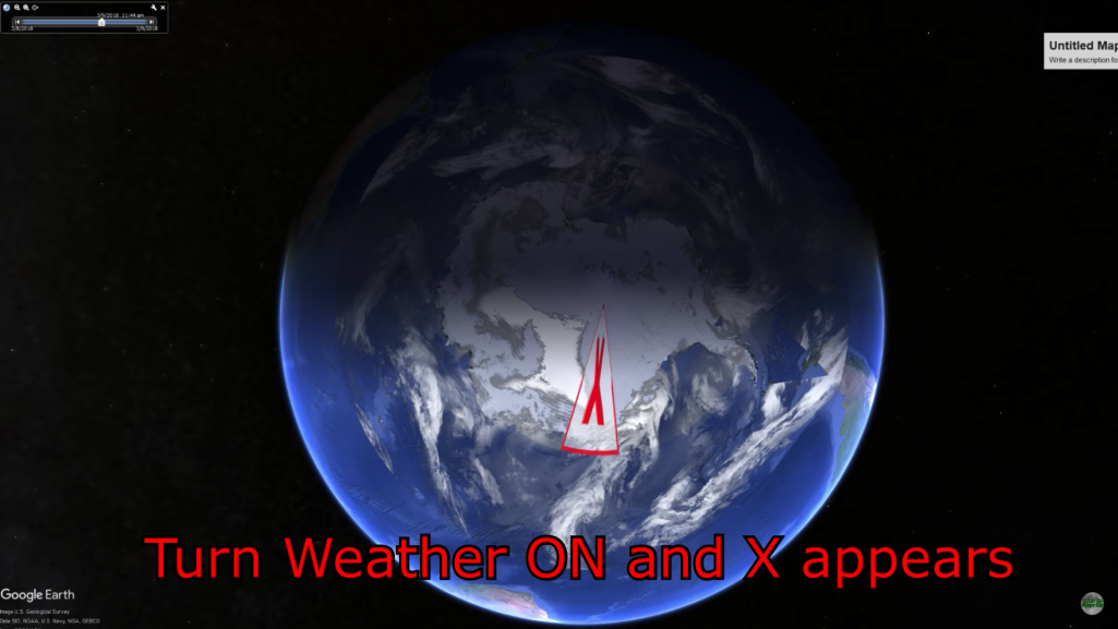 グーグルアースで南極に赤いバツ印の謎