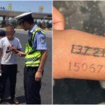 知的障害を抱える息子の腕に自宅電話番号を入れ墨した母親
