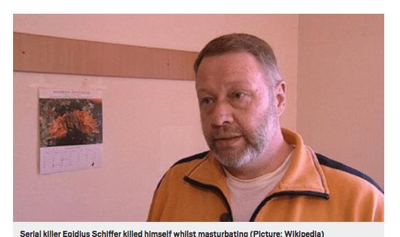 ドイツの連続殺人犯が刑務所内で感電オナニー中に死亡