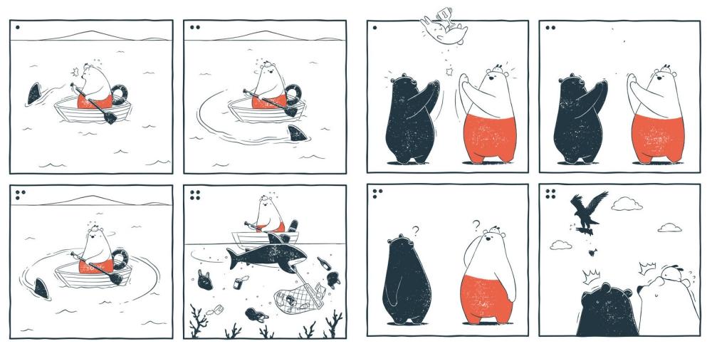 中国のほのぼの日常系4コマ漫画