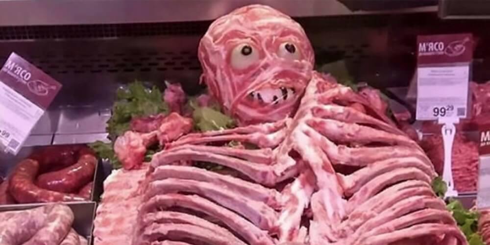 ハロウィンの肉人間騒動