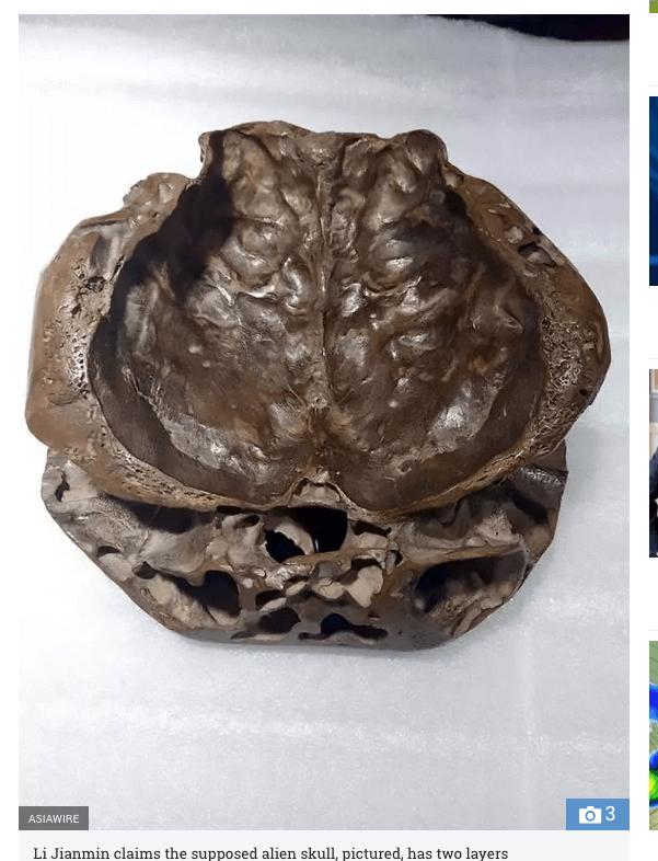 露天で買った宇宙人の頭蓋骨