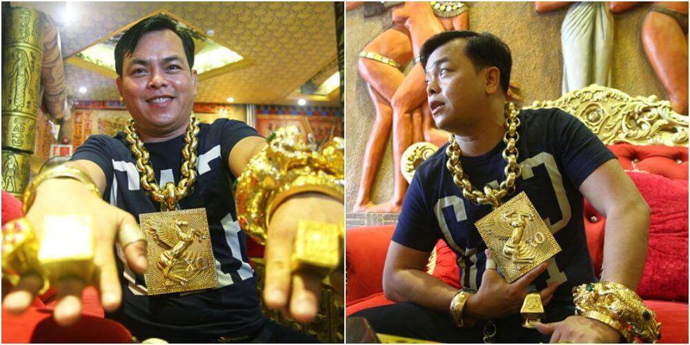 13kgの金塊で金運アップの成金男