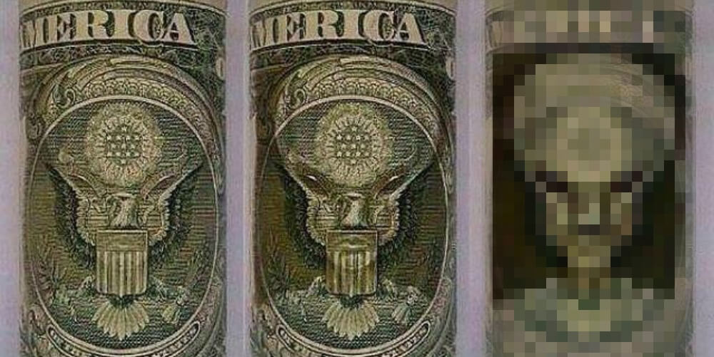都市伝説1ドル紙幣の宇宙人