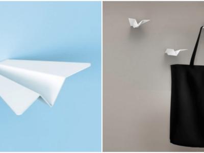 紙飛行機の壁掛けフック