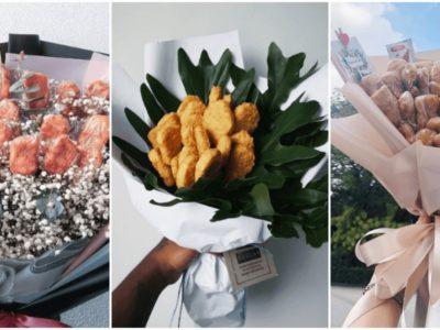 2020年のバレンタインはナゲットの花束が流行
