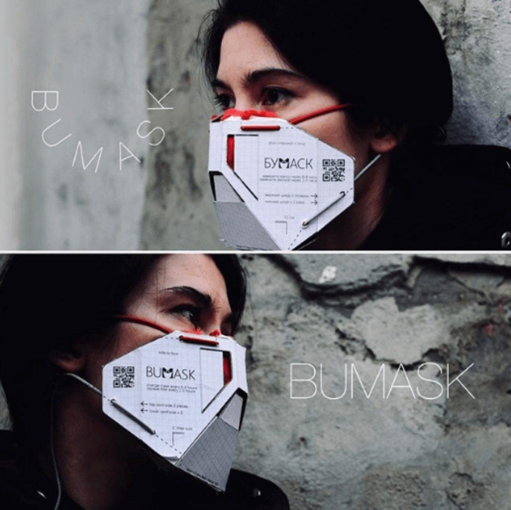 誰でも簡単に自作できる紙製マスク