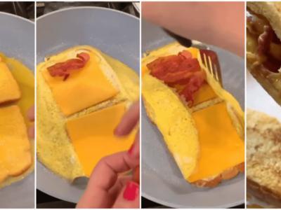 究極の朝食レシピ「オールインワントースト」