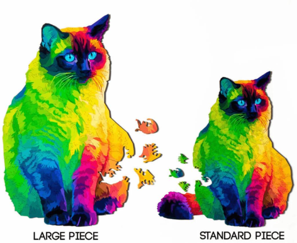 猫型ピースの猫パズル