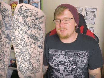 遊戯王Tattooで世界一狙うオタク外人