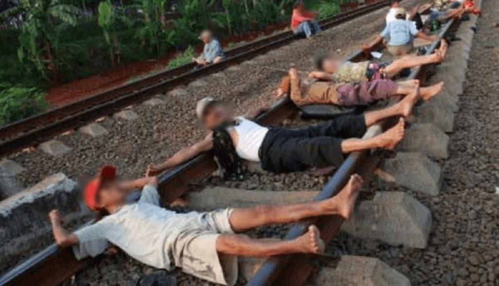 線路に寝転がるだけ健康法の胡散臭さ