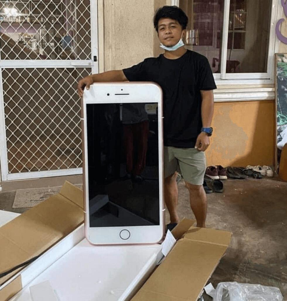格安iPhone通販したら巨大テーブルが届いた話