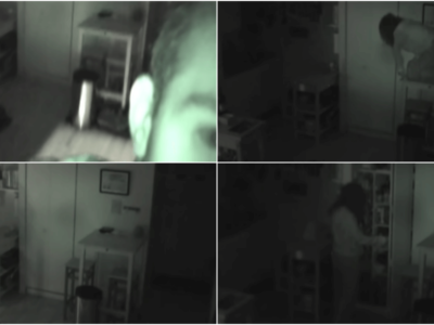 怖い動画「監視カメラに映った知らない女」