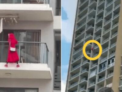 ダンス動画の撮影中に25階から落下