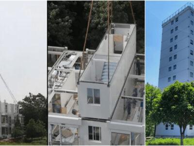 1日でビルを建てる中国建築