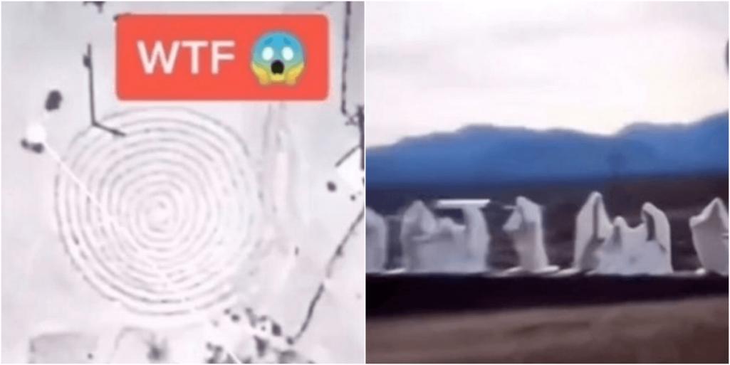 怖いGoogleEarth「砂漠に謎の幽霊集団とミステリー渦巻」発見