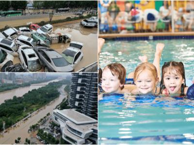 中国の大洪水の時にプールの広告出して炎上
