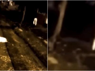 足だけの幽霊の心霊動画
