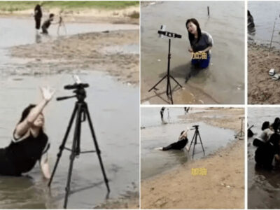 洪水を金儲けに悪用する中国のインフルエンサー