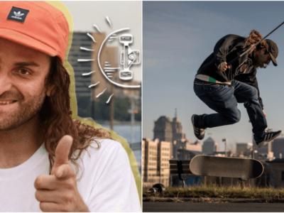 盲目のスケートボーダー