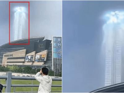 中国上空に異世界の入口が出現動画