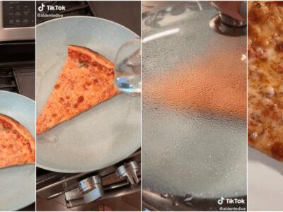 冷めたピザをフライパンで温める方法