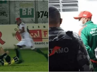 審判の首を蹴ったサッカー選手を殺人未遂容疑で逮捕