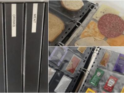 冷蔵庫の食材をバインダーで管理するライフハック